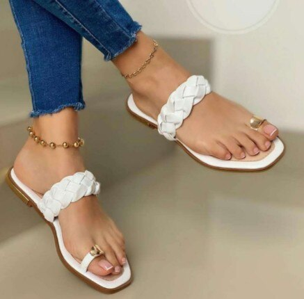 Invomall Ladies Clip Toe Casual Sandals