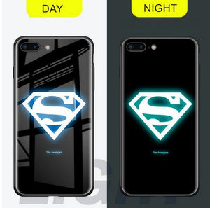Invomall Luminous Glass Case For iphone 7/8/X/XR/XS/Max