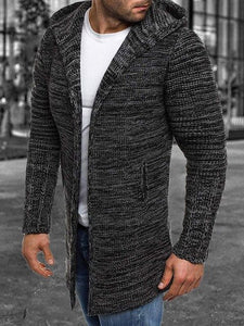 Invomall Men's Long Sleeve Cardigan