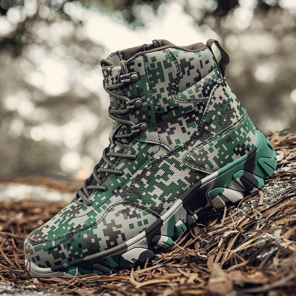 Invomall Tactical Military Combat Boots Work Shoes