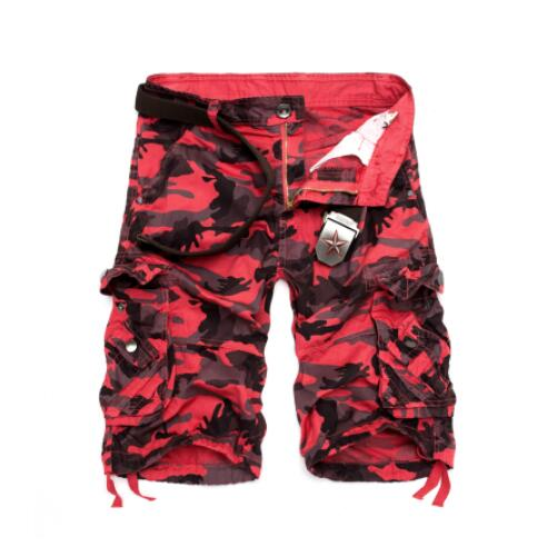 Invomall Men's New Camouflage Loose Cargo Shorts