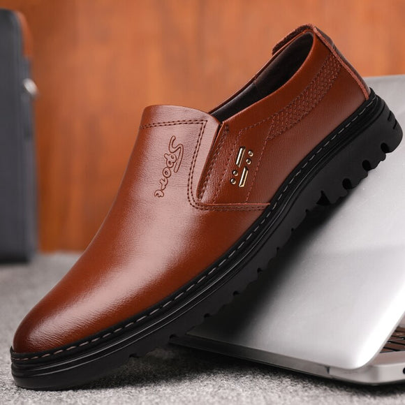 Invomall Vintage Leather Men's Casual Shoes