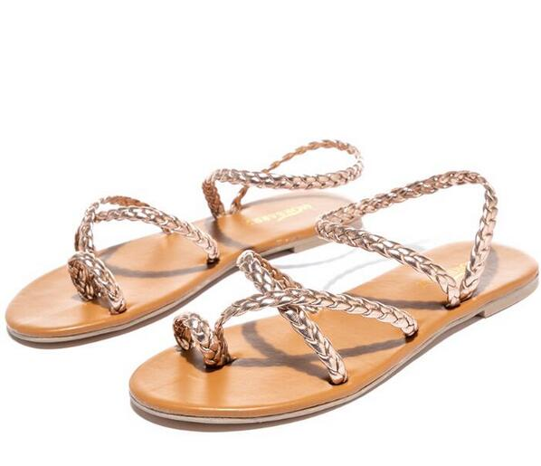 Shoes - Ladies Simple Weave Slippers Sandals