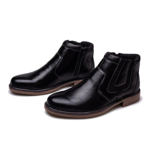Invomall Autumn Winter Vintage Style Men's Short Chelsea Boot