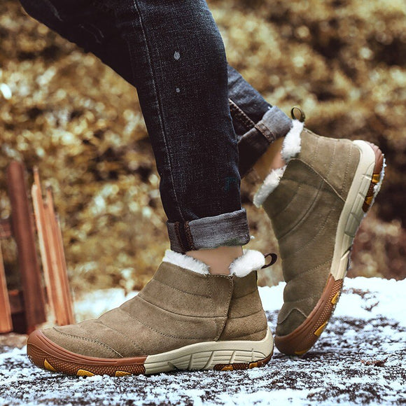 Invomall Men's Waterproof Warm Ankle Snow Boots