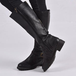 Invomall Ladies Vintage Knee High Riding Boots