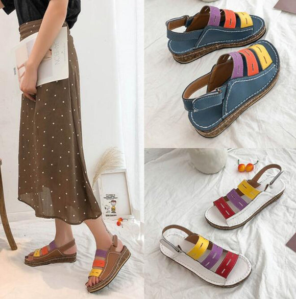 Shoes - Summer Flat Leather Roman Open Toes Women Sandals