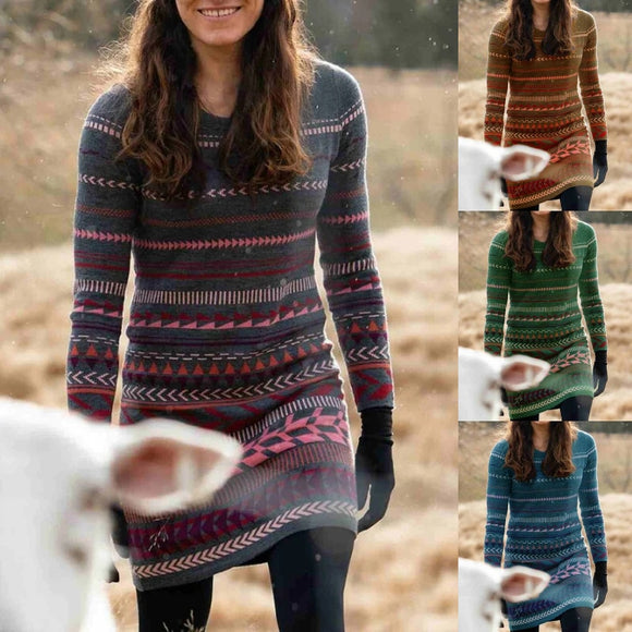 Invomall Women's Knitted Vintage Sweaters