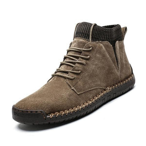 Invomall Men's Cow Suede Ankle Boots