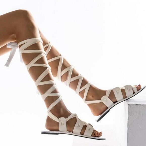 Shoes - Ladies Lace-up Gladiator Sandals