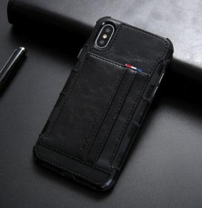 Invomall Luxury Original Leather Protective Phone Case For iPhone