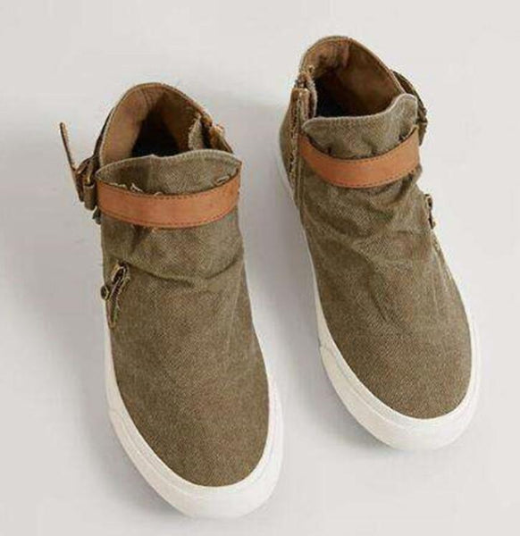 Shoes - Women's Breathable Canvas Shoes Loafers