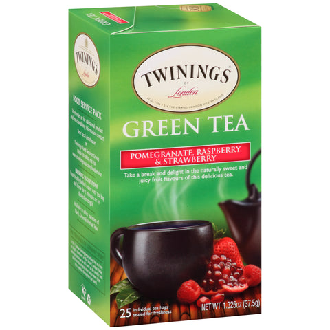 Green Tea Pomegranate, Raspberry & Strawberry 6/25ct, case