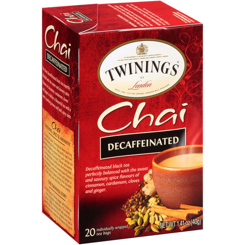 Chai Decaf 6/20ct, case