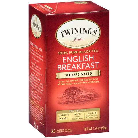 English Breakfast Decaf 6/25ct, case