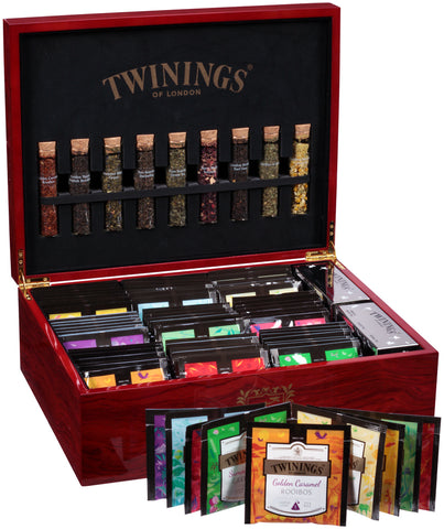 9-Slot Platinum Tea Chest - Cherry Wood (Unfilled)