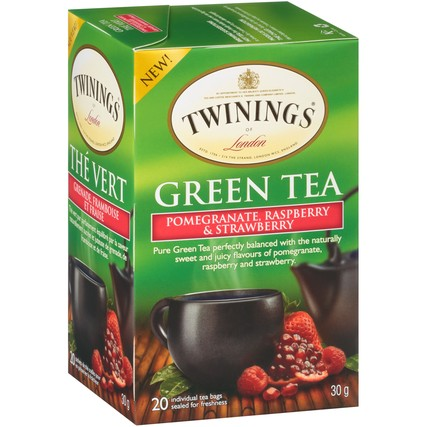 Green Tea Pomegranate, Raspberry & Strawberry 6/20ct, case