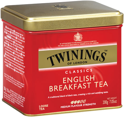 English Breakfast Loose Tea 6/200g tin, case