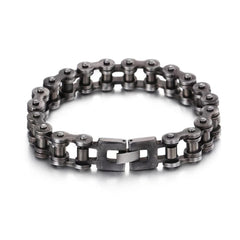 Oxidized Biker Chain Bracelet - Red Rocket Brand