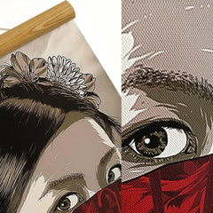 Japanese Ukiyoe Inspired Wall Scrolls 2 - Red Rocket Brand