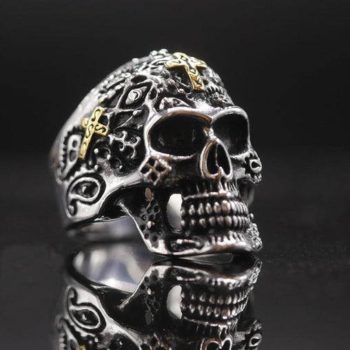Knight Cross Skull Ring
