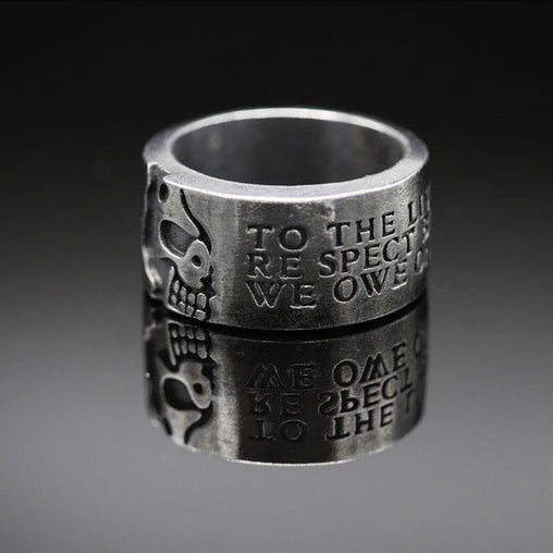 Tough Steel Skull Ring
