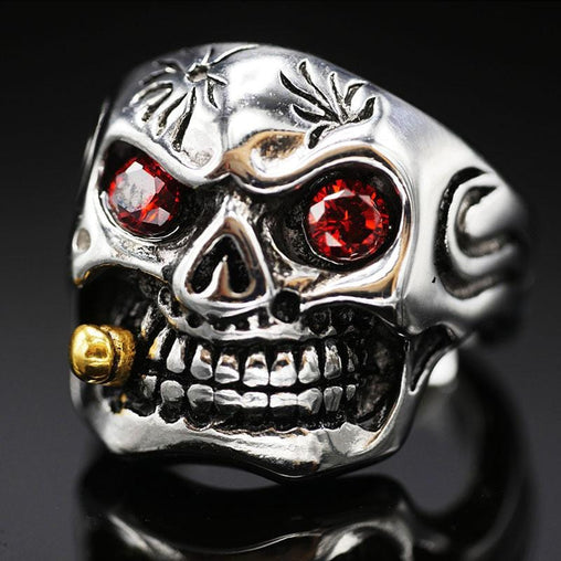 Smoking Skull Ring 2
