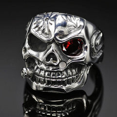 Smoking Skull Ring - Red Rocket Brand