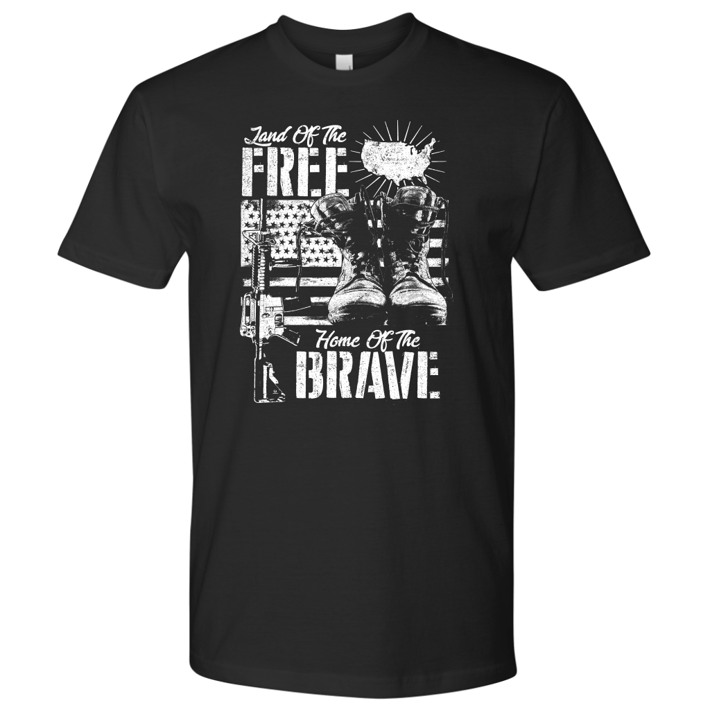Home of The Brave - bw - Red Rocket Brand