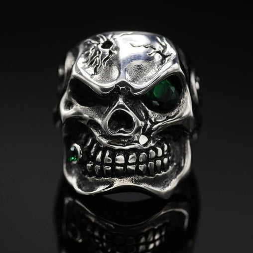 Green Eye Smoking Skull