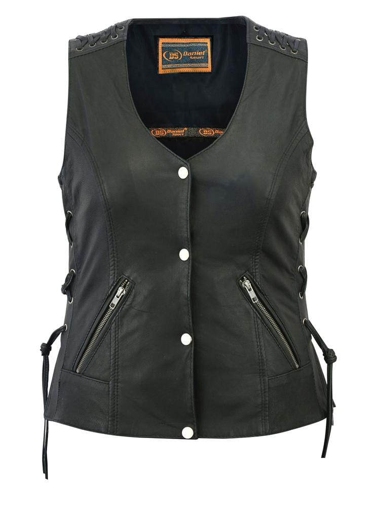 Women's Vest with Grommet and Lacing Accents - Red Rocket Brand