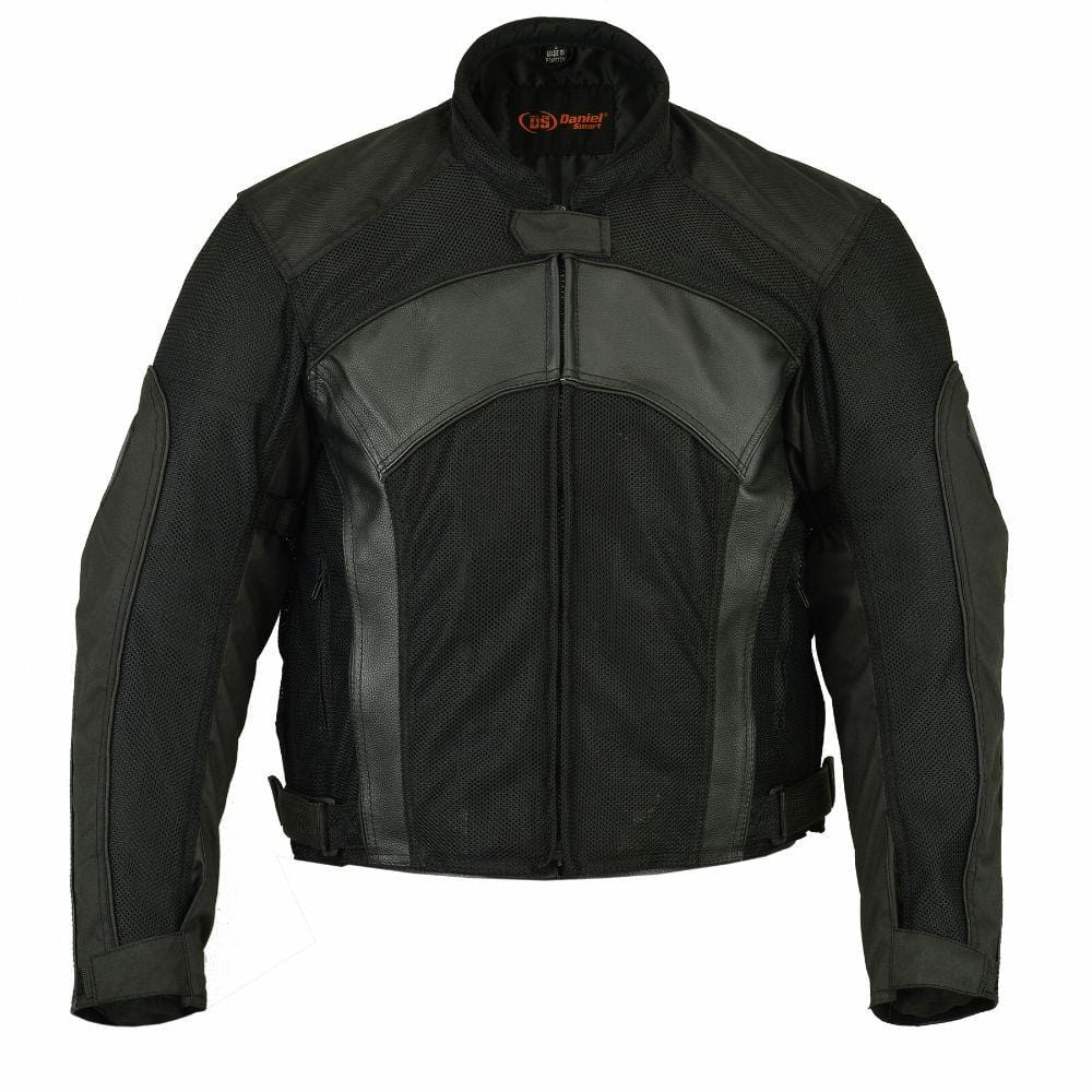 Men's Mesh/ Leather Padded Jacket - Red Rocket Brand