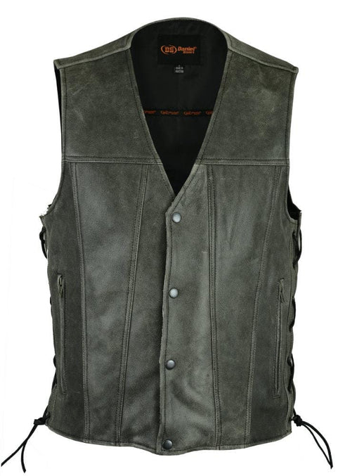 Men's Gray Single Back Panel Concealed Carry Vest
