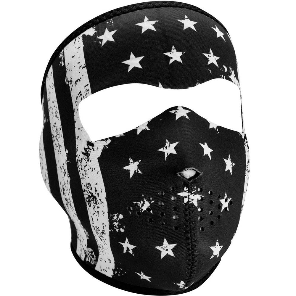 ZAN® Full Mask- Neoprene- Black and White Vintage Flag - Red Rocket Brand