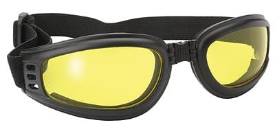 Nomad Goggle Black Frame- Yellow Lens - Red Rocket Brand
