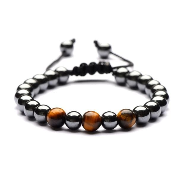 Natural Stone Hematite Bracelet - Red Rocket Brand