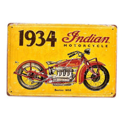 Custom Cycles Tin Signs - Red Rocket Brand