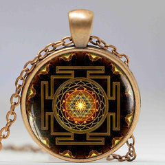 Sri Yantra Pendant - Red Rocket Brand