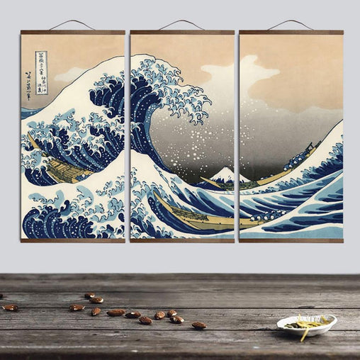 The Great Wave Off Kanagawa Wall Scroll