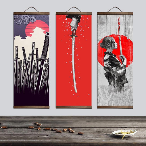 Japanese Ukiyoe Wall Scroll