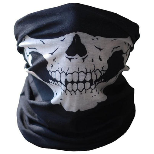 White Skull Biker Face Mask