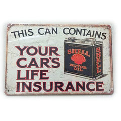 Vintage Gasoline Tin Signs - Red Rocket Brand