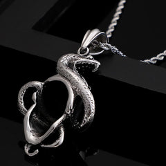 Skull & Snake Stainless Steel Pendant - Red Rocket Brand