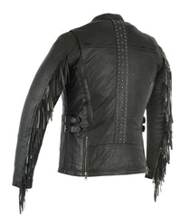 Women's Stylish Jacket with Fringe - Red Rocket Brand