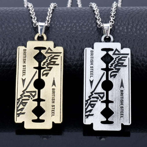 Biker Razor Blade Necklace