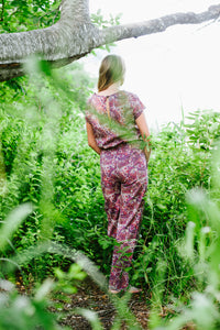 Long Jumpsuit Pink & Purple