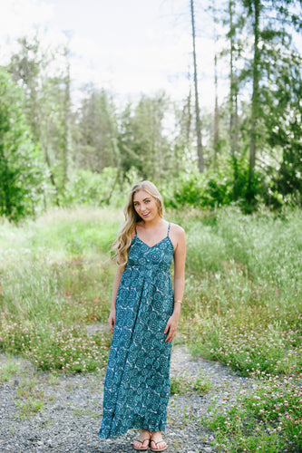 Long Maxi Dress Turquoise
