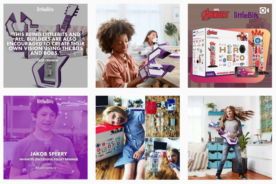 little bits top instagram feed for girl engineers and STEM