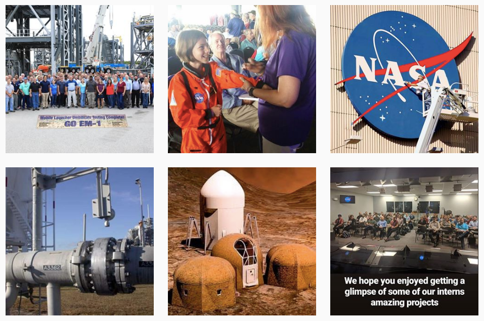nasa kennedy and nasa top instagram feed for smart STEM girls
