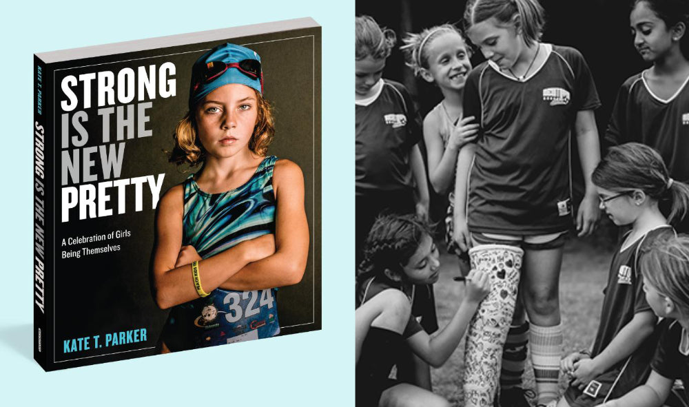 strong is new pretty book with photo of athletic kind girls